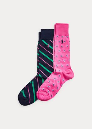 Ralph Lauren Paisley & Striped Sock 2-Pack