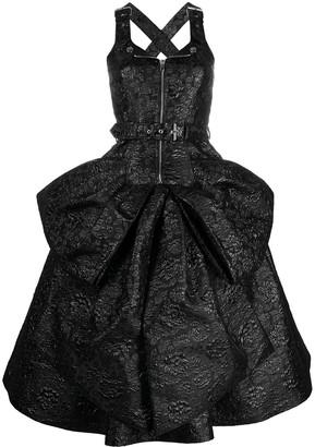 Moschino Floral-Jacquard Sleeveless Midi Dress