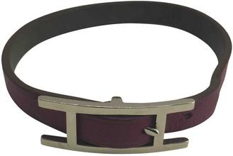 Hermã ̈S HermAs Hapi Purple Leather Bracelets