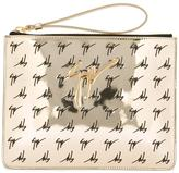 Giuseppe Zanotti Design The Signature Margery mirrored logo clutch - women - Polyurethane - One Size