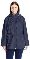 Weathertamer Women's Plus-Size Water Resistant Anorak