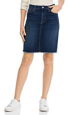 Jen7 by 7 For All Mankind Frayed Hem Pencil Skirt