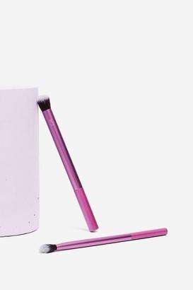 Nasty Gal Womens Real Techniques 2-Pc Eyeshadow Brush Set - Purple - ONE SIZE, Purple