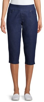 Time and Tru Women's Woven Pull On Capris