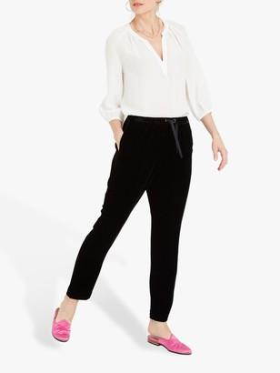 Nrby NRBY Jessie Silk Jersey Slim Fit Trousers, Black