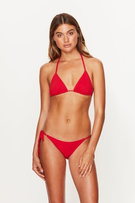 Toria Tonia Triangle Bikini Top Red