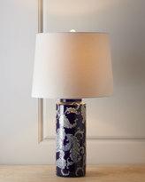 Horchow Blue Paisley Lamp