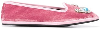 Giannico Venetian textured slippers