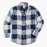 J.Crew Kids' flannel shirt in buffalo plaid