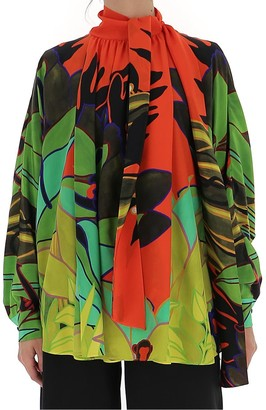 Valentino Printed Crepe De Chine Shirt