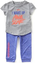 Under Armour Baby Girls 12-24 Months I Wake Up Awesome Short-Sleeve Tee & Jogger Pant Set