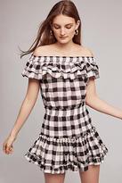 MISA Carrington Off-The-Shoulder Mini Dress