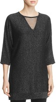 Design History Beaded Cutout Metallic Tunic