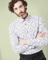 THEDODO Debonair diamond print shirt