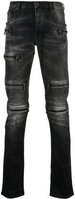 Unravel Project Multi Zip Slim Jeans