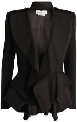Alexander McQueen Draped Peplum Jacket
