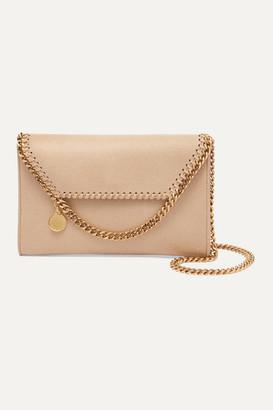 Stella McCartney The Falabella Mini Faux Brushed-leather Shoulder Bag - Off-white