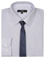 George Long Sleeve Regular Fit Shirt & Tie Set