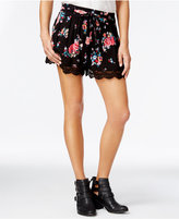 American Rag Printed Crochet-Trim Shorts, Only at Macy's
