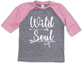 Urban Smalls Heather Gray & Pink 'Wild Soul' Raglan Tee - Toddler & Girls