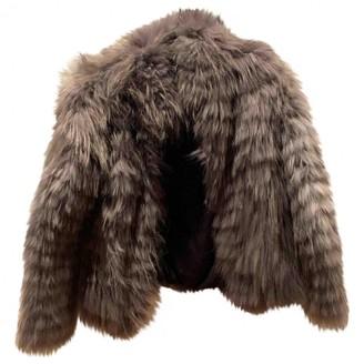 Dna Grey Fur Coat for Women