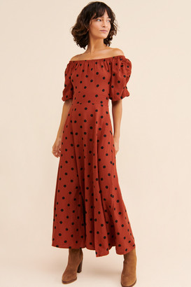 Anthropologie Lucienne Off-The-Shoulder Maxi