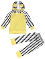 Baby Clothes,Doinshop Striped Pattern Toddler Boy Girl Hooded Tops Hoodies+Pants Outfits Set (3-6M, )