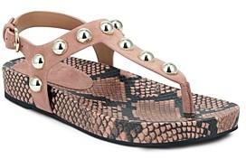 Marc Fisher Women's Lindie Studded T-Strap Platform Sandals