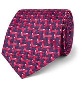 Sulka - 9cm Basketweave-effect Silk-jacquard Tie