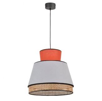 Market Set - Singapore Small Pendant Lamp Color Tomette / Gray - linen | GREY | tangerine - Tangerine