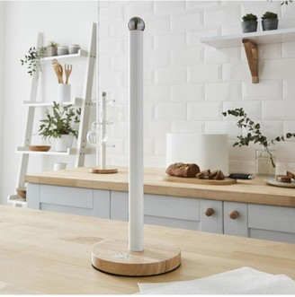 Swan Nordic Kitchen Towel Pole with Wooden Base