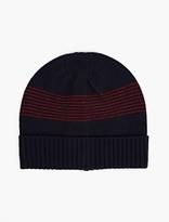A.p.c. Navy Wool Derek Beanie Hat