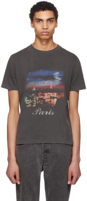 Balenciaga Grey Paris T-Shirt