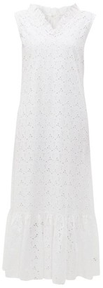 Merlette New York Ardennes Broderie Anglaise Cotton Maxi Dress - Womens - White