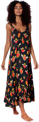 MC2 Saint Barth Secret Heart Print Gown With Shoulder Straps