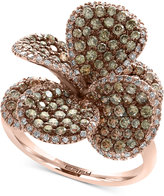 Effy Diamond Flower Ring (2-1/4 ct. t.w.) in 14k Rose Gold
