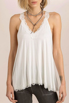 POL Laced Flowy Camisole Top