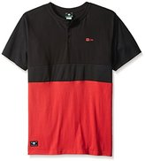 Lrg Men's Big-Tall Systematic Short Sleeve Henley