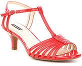 Alex Marie Lanelle Snake-Embossed Leather Dress Sandals