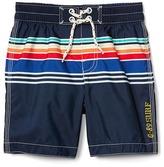 Gap Surf stripe swim trunks
