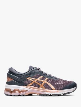 Asics GEL-KAYANO 26 Women's Running Shoes, Metropolis/Rose Gold