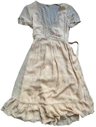 Sandro Beige Silk Dress for Women