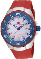 Technomarine Men's Manta 48mm Red Silicone Band Automatic Watch Tm-215090