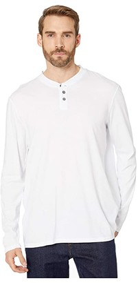 Mod-o-doc Palos Verdes Long Sleeve Henley (White) Men's T Shirt
