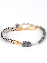 Kris Nations Angel Fire Beaded Bracelet in Tan