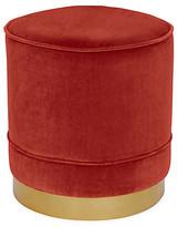 Kim Salmela Piper Stool - Cinnabar Velvet frame, brass; upholstery, cinnabar