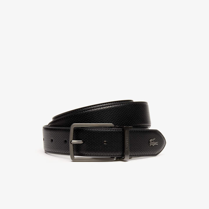 0176a5687b Men's Engraved-Buckle Reversible Pique Leather Belt