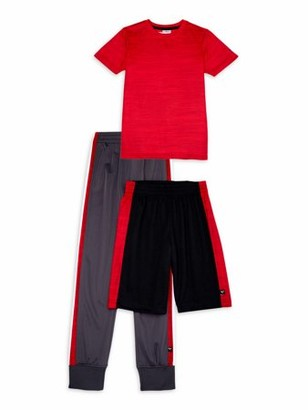 Cheetah Boys T-Shirt, Jogger Pants, and Shorts Athletic Outfit, 3-Piece Set, Sizes 4-18