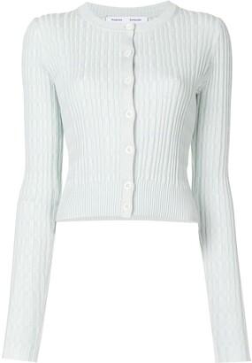 Proenza Schouler White Label Mini Geo Rib Cropped Cardigan Sweater