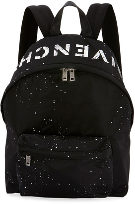 Givenchy Men's Urban Splatter Nylon Zip-Around Backpack